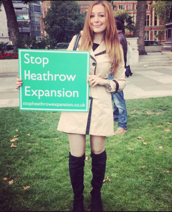 ANTI-HEATHROW EXPANSION PARLIAMENT SQUARE PROTEST